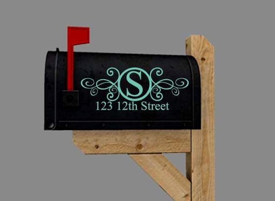 Mailbox decal vinyl lettering with number and street address for Window cling letters and numbers