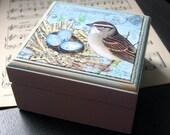 """Song Nest - 3"""" x 3"""" Wooden Box"""