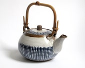 Hand painted Ceramic Teapot. Blue and White.