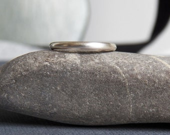 Sterling silver Plain Band Ring - handcrafted - stacking ring