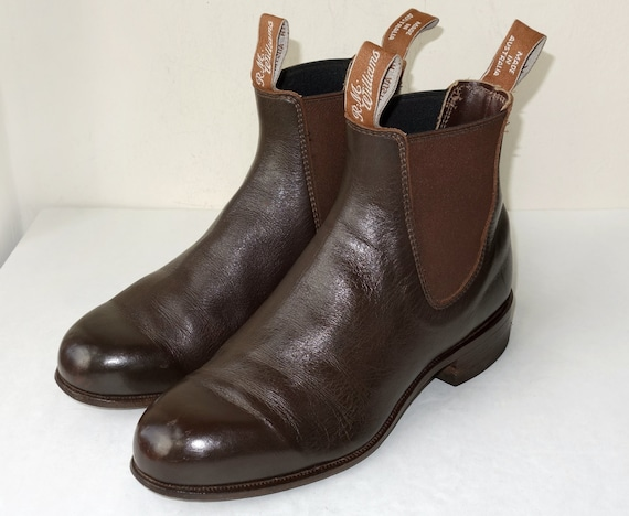 vintage rm williams brown leather chelsea boots womens size