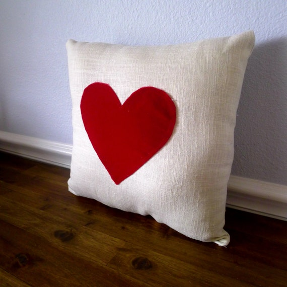 Velvet Heart Valentines Pillow FREE SHIPPING