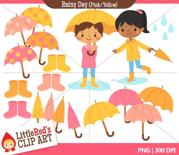 Rainy Day Clip Art: Rainy Day Clip Art And Digital Stamps