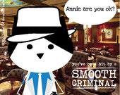 Michael Jackson: Smooth Criminal. sticker 3.9 x 3.9 in