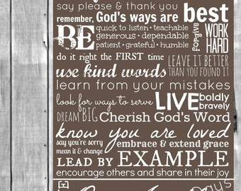Family Rules / Life Rules // Beechwood // INSTANT DOWNLOAD // 3 Sizes // Wall Art Print