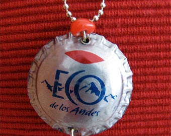 Eco Recycled bottle cap necklace