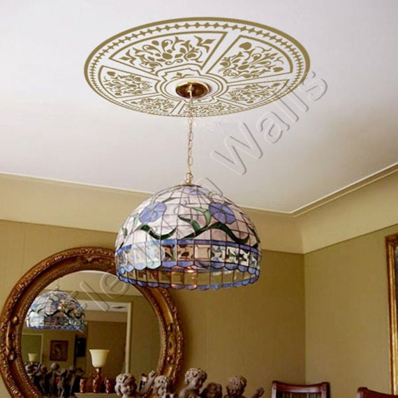 Ceiling Medallion Shabby Chic Decorative Vinyl By