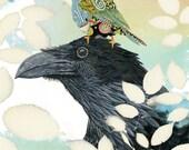 Art Print. Feeling Fabulous Birds