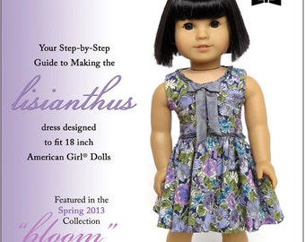 Pixie Faire Melody Valerie Couture Lisianthus Dress Doll Clothes Pattern for 18 inch American Girl Dolls - PDF