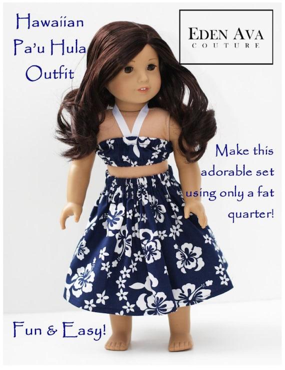 Pixie Faire Eden Ava Hawaiian Pau Hula Outfit Doll Clothes