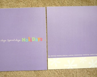 New- TWO 12 X 12 Pre-Made Scrapbook Pages GRANDKIDS 3