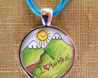 I Love to HIke Necklace