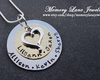 Heart of The Family - Sterling Silver Charm