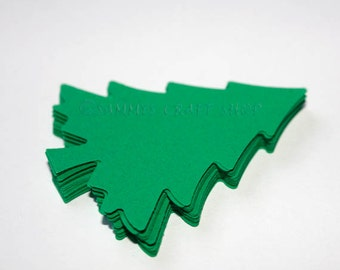 30 Green Christmas Tree Die Cuts, Christmas Party Decorations, Christmas Tree Cutouts, Scrapbook Embellishment, Holiday Tree Christmas Decor