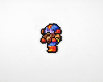 Final Fantasy IV Cid Perler Bead Magnet