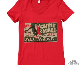 Women's SWING PARADE American Apparel Poly-Cotton Tee