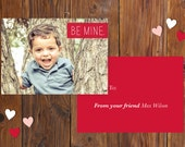 Be Mine Valentine - Customizable Photo Classroom Valentine (Available as DIY Printable)