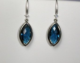 Montana blue Marquis earrings