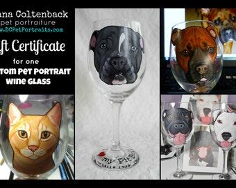 Pet Portrait Wine Glass Gift Certificate