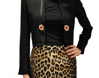 MOSCHINO Cheap and Chic Black Bolero tuxedo designer blazer