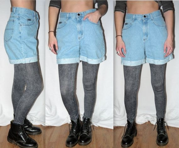 Items similar to vintage 80s 90s denim jean shorts / 1980s 1990s ...