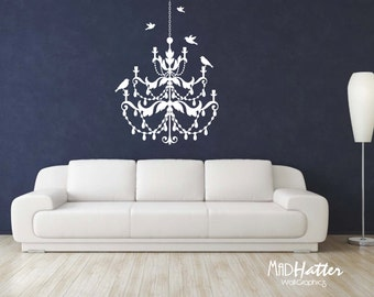 "CHANDELIER Wall Decal 28"" X 38"""