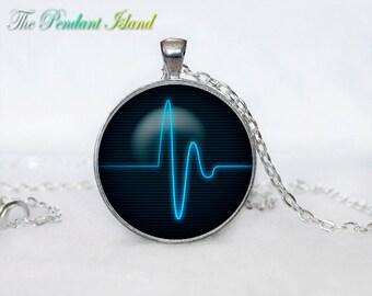 Heartbeat Necklace, Heart Pendant Heart jewelry  Heartbeat Sign Pendant Art gift for men for women