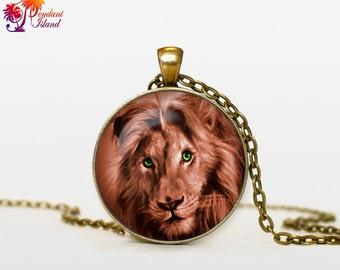 LION Necklace lion pendant lionje welry art  jewelry for men for women animal pendant