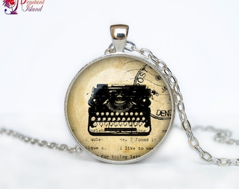 Old Typewriter necklace Old Typewriter pendant Old Typewriter jewelry