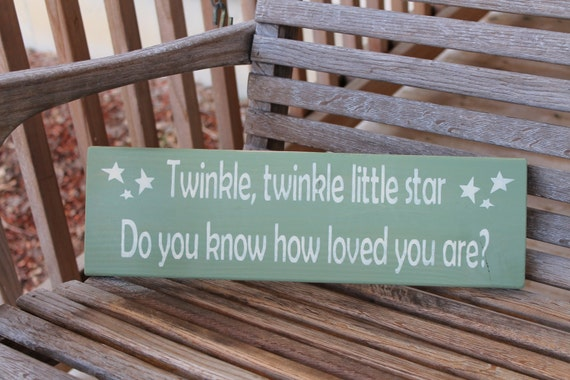 Wood Sign Twinkle Little Star