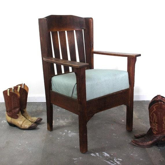 antique mission oak arm chair arts crafts by spunkvtg