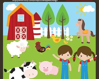 Barnyard Clip Art / Barnyard Clipart /  Farm Animals Clipart / Farm Animals Clip Art  / Farm Clipart / Farm Clip Art / Commercial & Persona