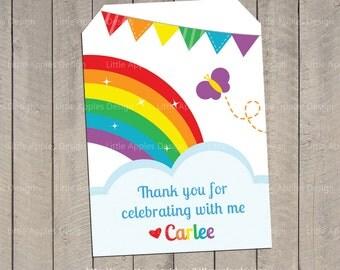 Rainbow Favor Tag / Rainbow Gift Tag / Rainbow Party Printable / Rainbow Birthday / Rainbow Printable / Rainbow Invite / Printable DIY