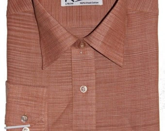 Khadi Light Chocolate 100% Handmade Cotton Fabric and F/S Dress Shirt
