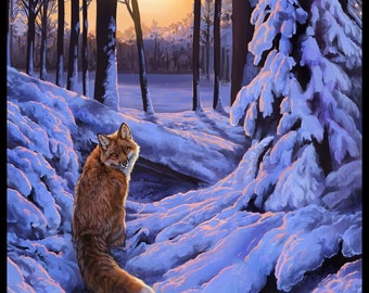 Red Fox and Snow Fine Art Print