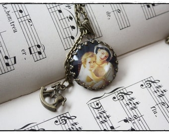 "brazen Necklace with Charms ""mother & child"""