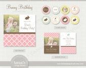 Bunny Birthday Printable Birthday Party Package by tania's design studio