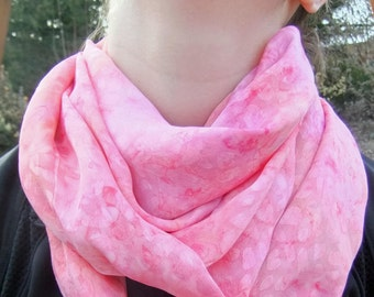 Infinity Scarf - Loop Scarf - Circle Scarf - Melon Polyester Print - reduced price