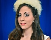 Wedding Headpiece -No. 7- Vintage marabou and feather hat