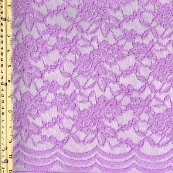 Scalloped Lace Fabric by The Yard Lilac Scalloped Lace Fabric by