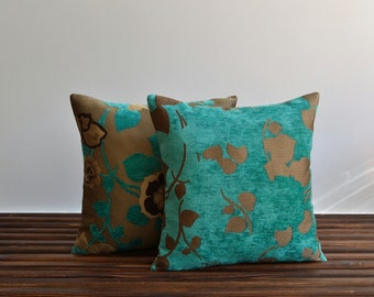 Green upholstery soft pillow cover - 16x16 Decorative Pillows, Accent Pillows, Throw Pillow Covers