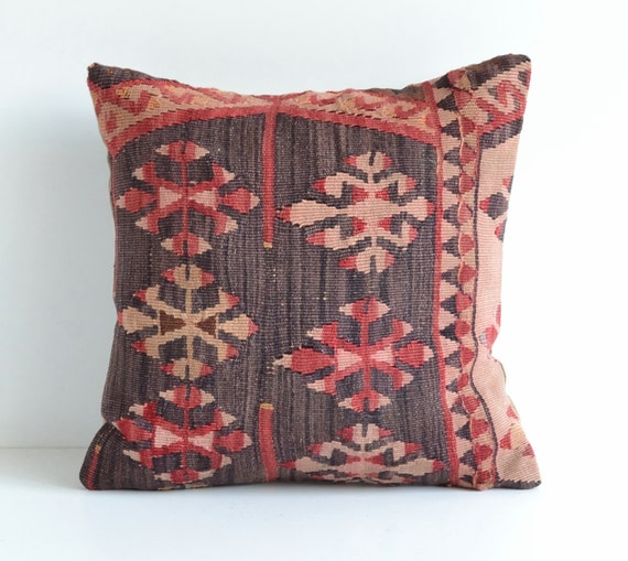 Vintage Floor Pillows : Vintage Floor Kilim Pillow Cover Shabby Chic Home Decor