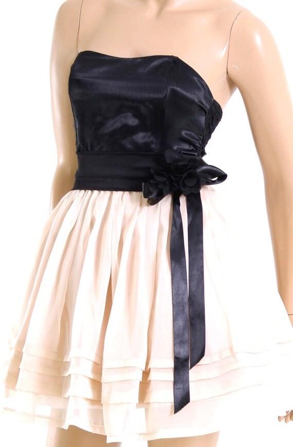 Party/ Cocktail/Strapless/ wedding party /Chiffon mini  dress