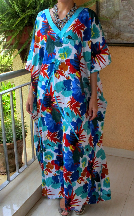 items similar to floral summer maxi dress cotton kaftan