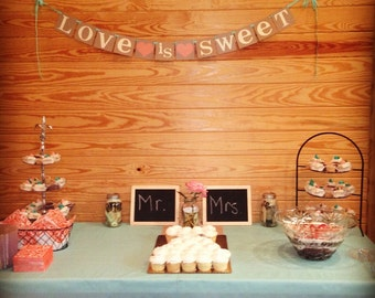 Love Is Sweet Banner - Wedding Banner Photo Prop - Wedding Sign - Wedding Decoration