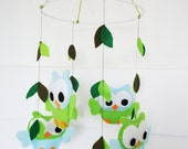 Cute Owl mobile - Customized mobile - Eco friendly - baby mobile - modern nursery