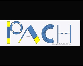 Dog Agility Car Magnet AKC Preferred Title PACH