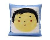 Decorative Pillow.Blue Cushion. Kids  decoration