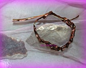 Hippie Copper Leather Bracelet,Boho, Bohemian, Direct Deposit, Unisex