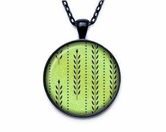 Retro pattern pendant Retro pattern necklace Retro pattern jewelry sign necklace